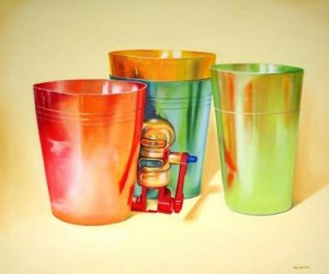 aluminium-cups-and-robot_oil-on-canvas_100x120cm